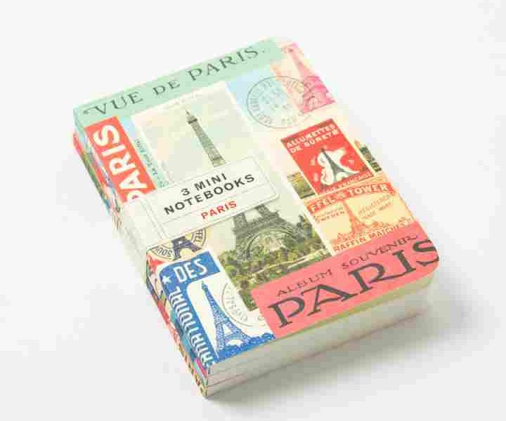 vintage paris notebook set cavallini papers