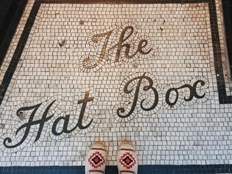the hat box floor mosaic brighton