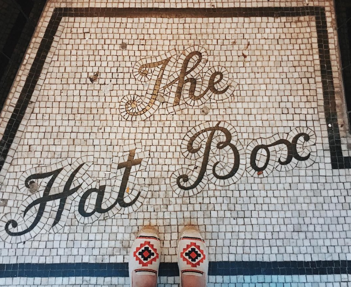 the hat box floor mosaic brighton