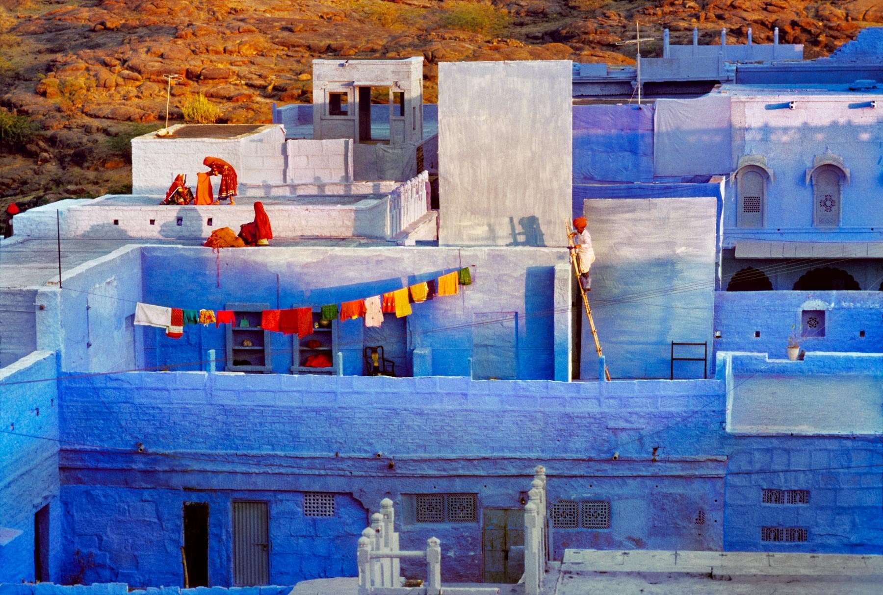 blue city steve mccurry