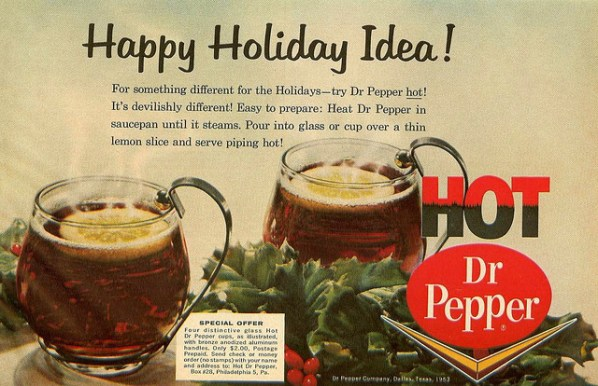 dr pepper served hot 1960