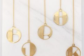 alice eden art deco initial pendants