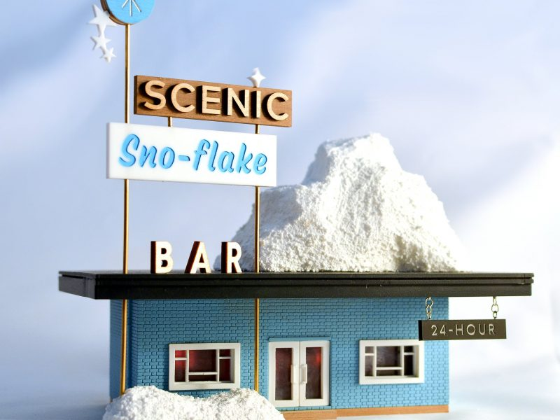 tiny scenic snow flake bar urban miniatures brighton