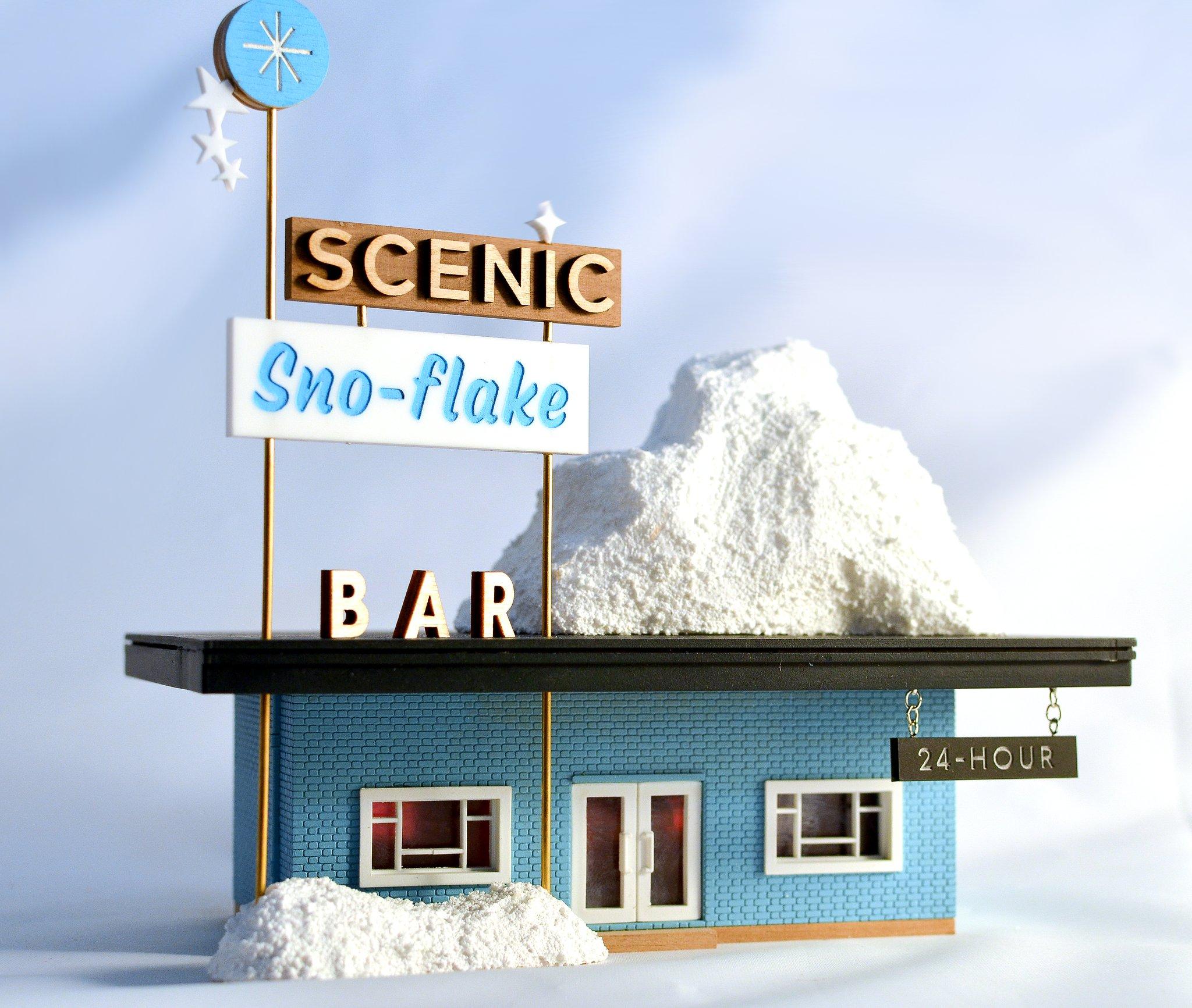 tiny scenic snow flake bar urban miniatures brighton