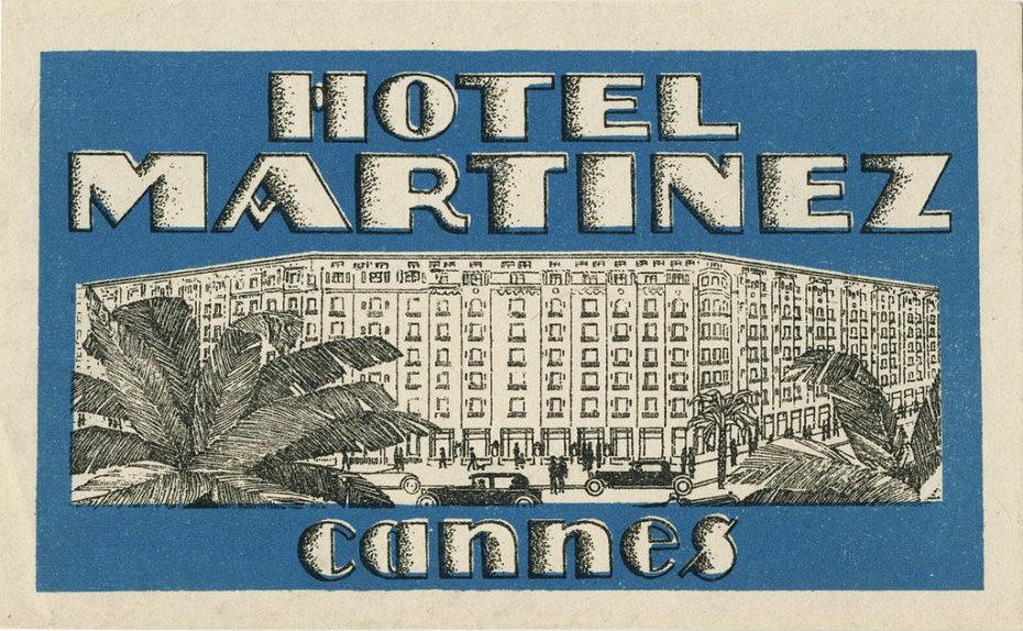 hotel martinez luggage label