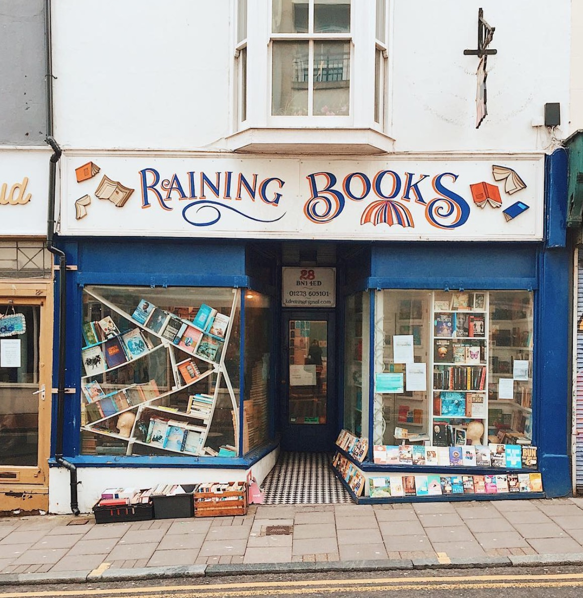 raining books brighton
