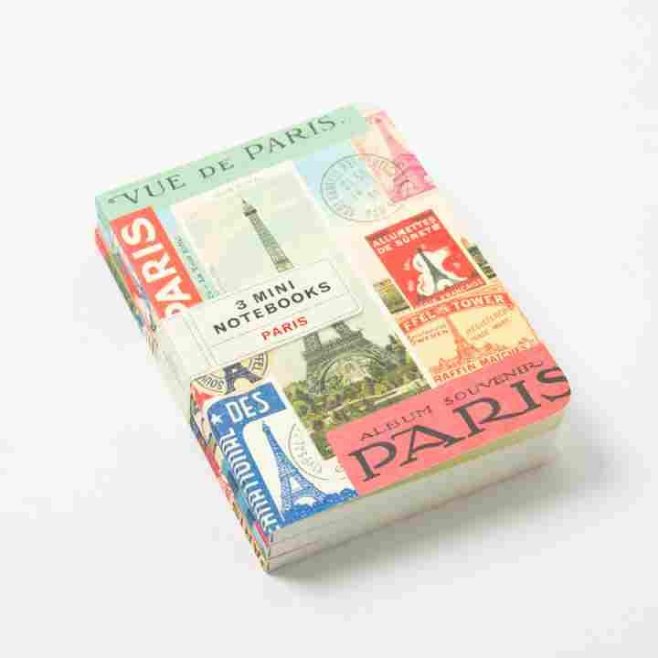 vintage paris notebook set cavallini papers