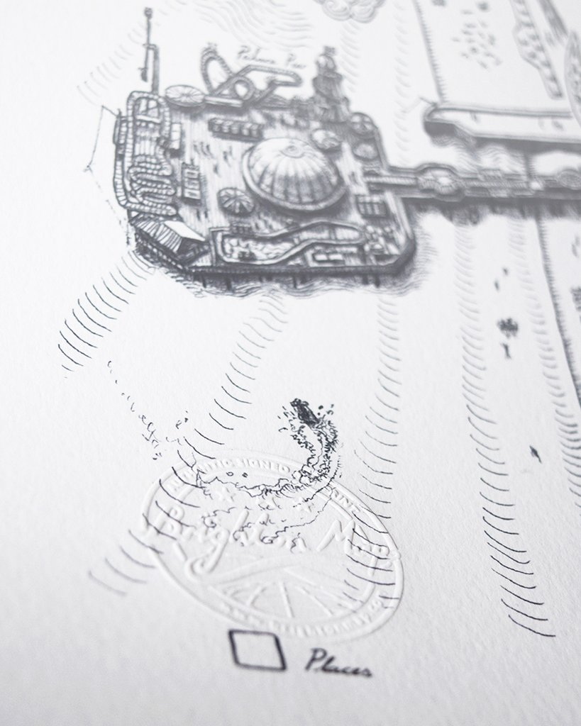brighton map print illustration