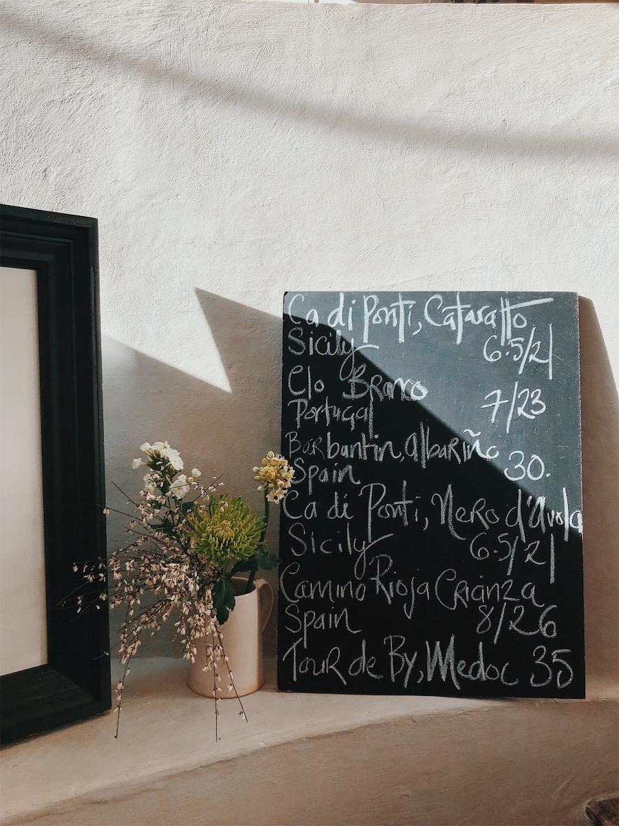 chard restaurant wine list
