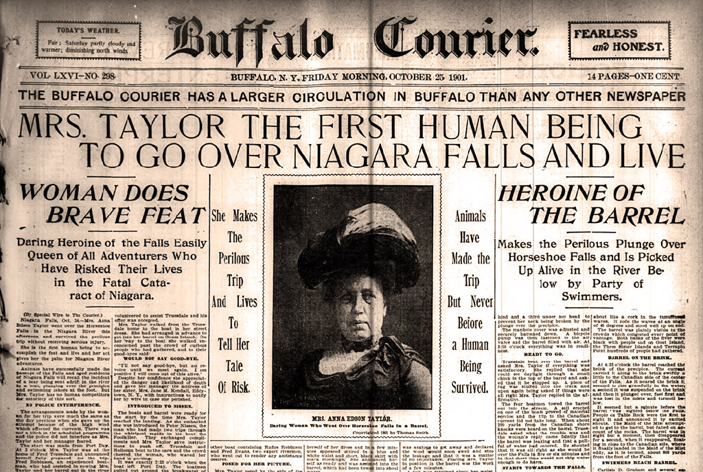 annie edson taylor front-page news