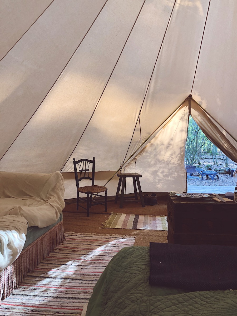 glamping at knepp wildland project