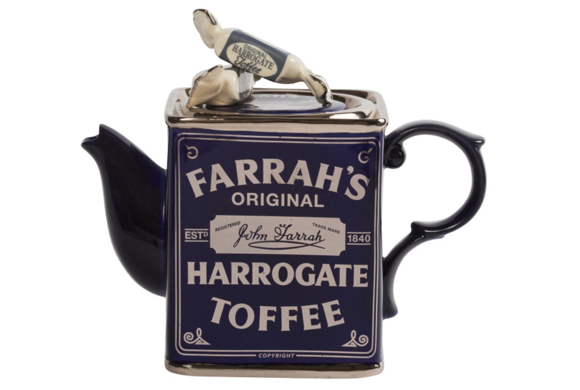 farrah's harrogate toffee novelty teapot