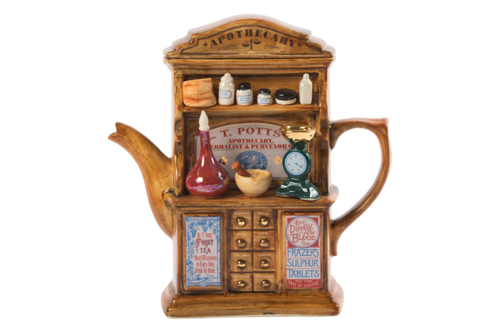 apothecary novelty tea pot